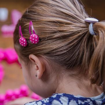 Haarspangerl Stoff Pink