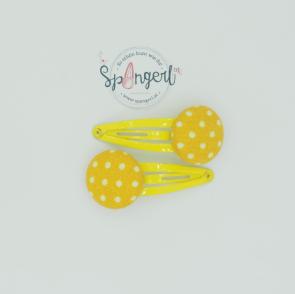 Haarspangerl Stoff Gelb
