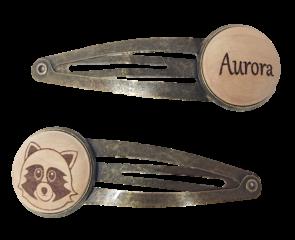 Personalisiertes Haarspangerl Bronze