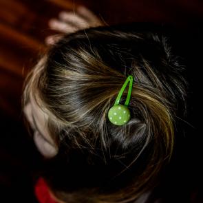 Haarspangerl Stoff Grün